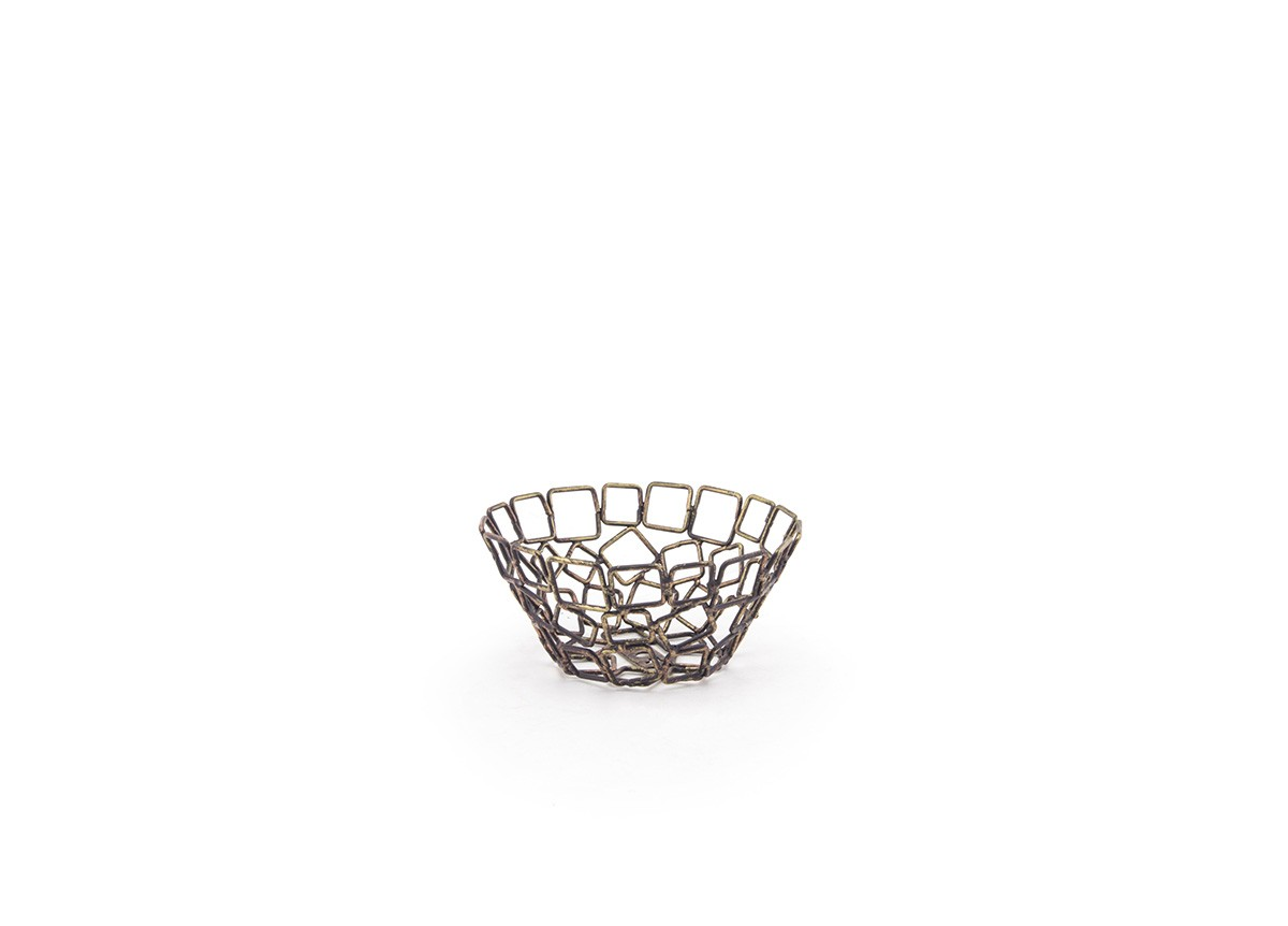 "5.5"" Round Coppered Link Basket"