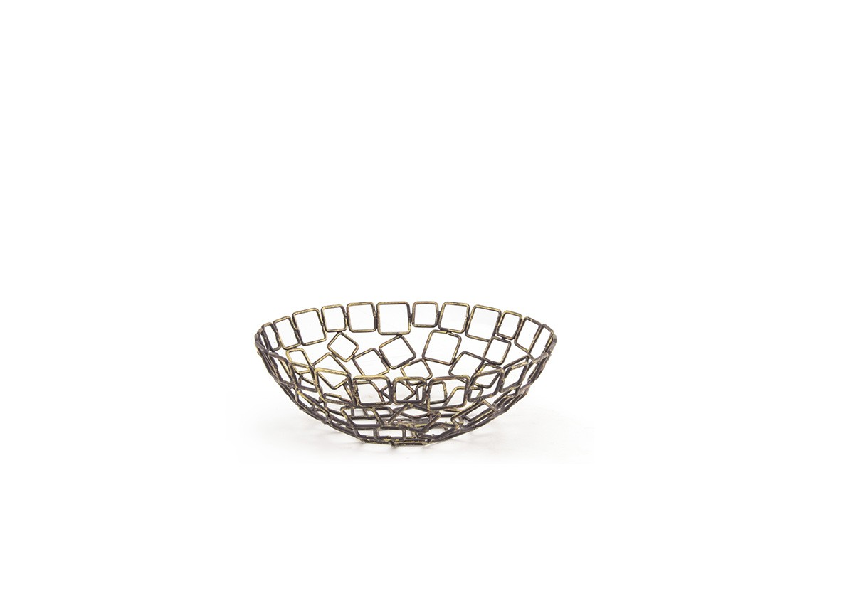 "8"" Round Coppered Link Basket"