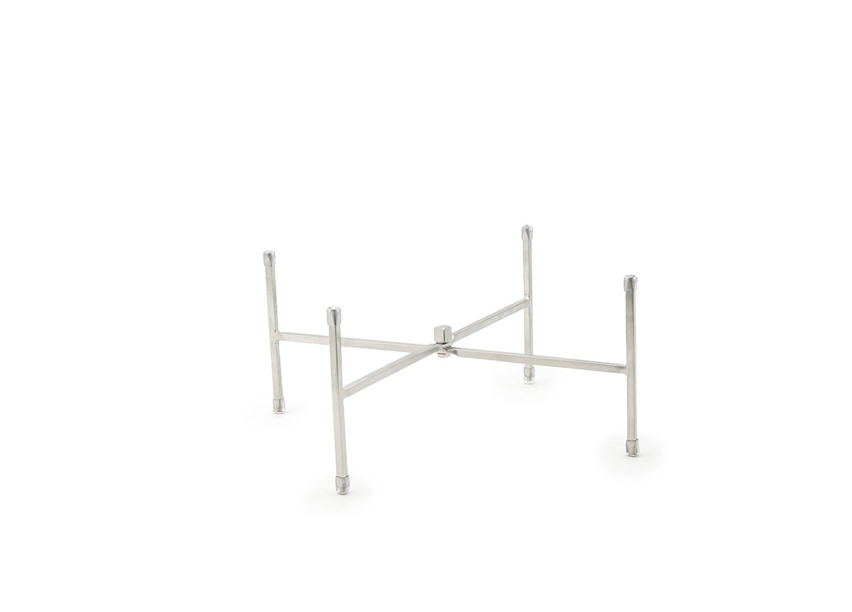 "11.5"" Brushed Stainless Tall Riser/Trivet - Silver"