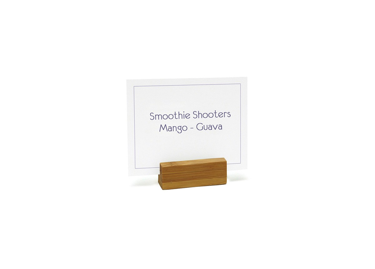 "2.25"" x 0.75"" Bamboo Menu/Sign Holder"