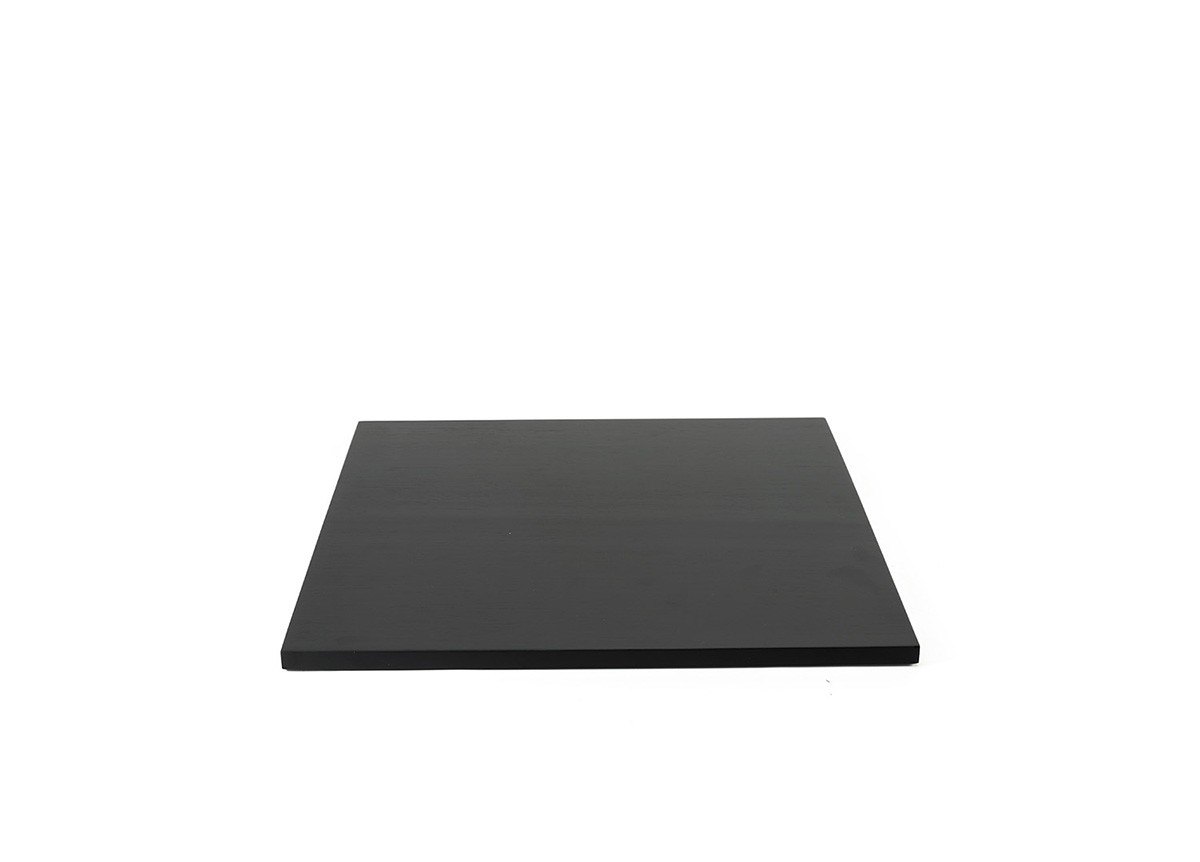 "14"" Square Bamboo Board - Black"
