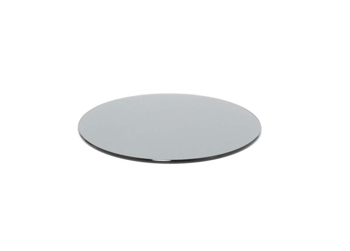 "14"" Round Buffet Boards - Smoke Tempered Glass"