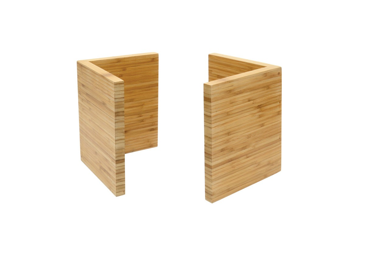 "9"" Bamboo L Risers - Set of 2 - Natural"