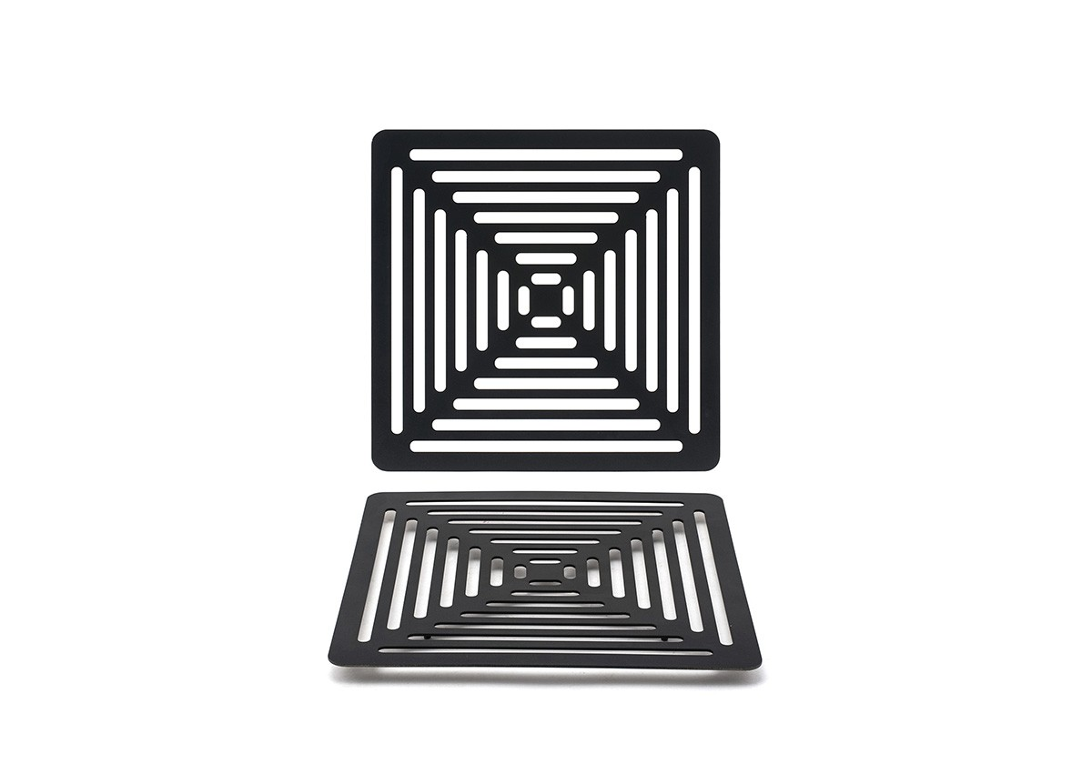 Square SS Grill Plate - Matte Black