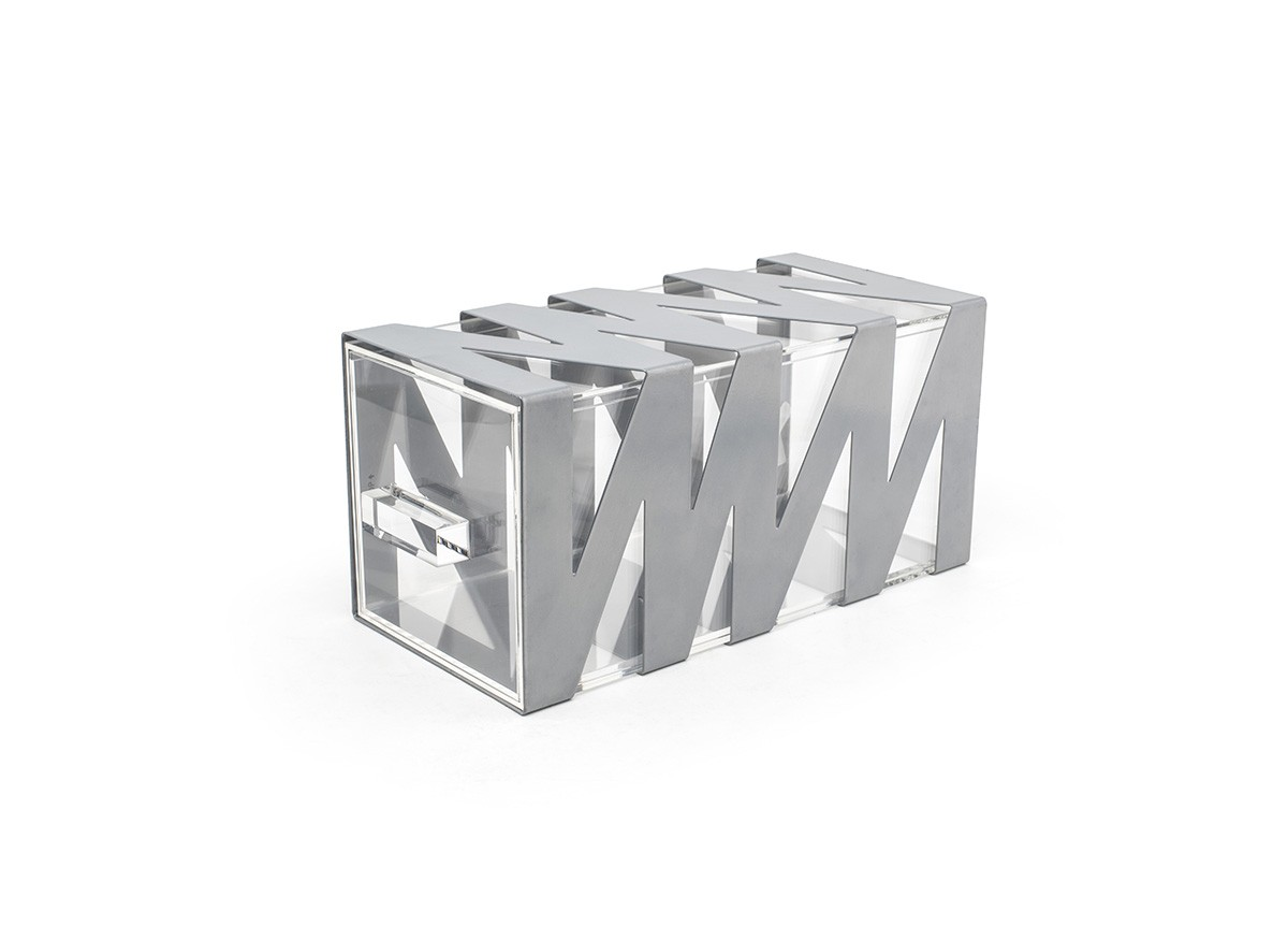 Zig Zag Housing/Drawer Set - Silver