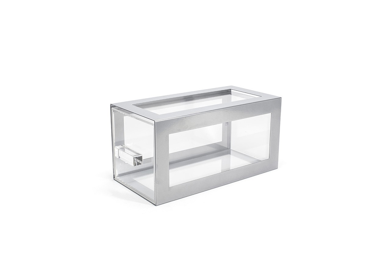 Metal Housing/Drawer Set - Silver