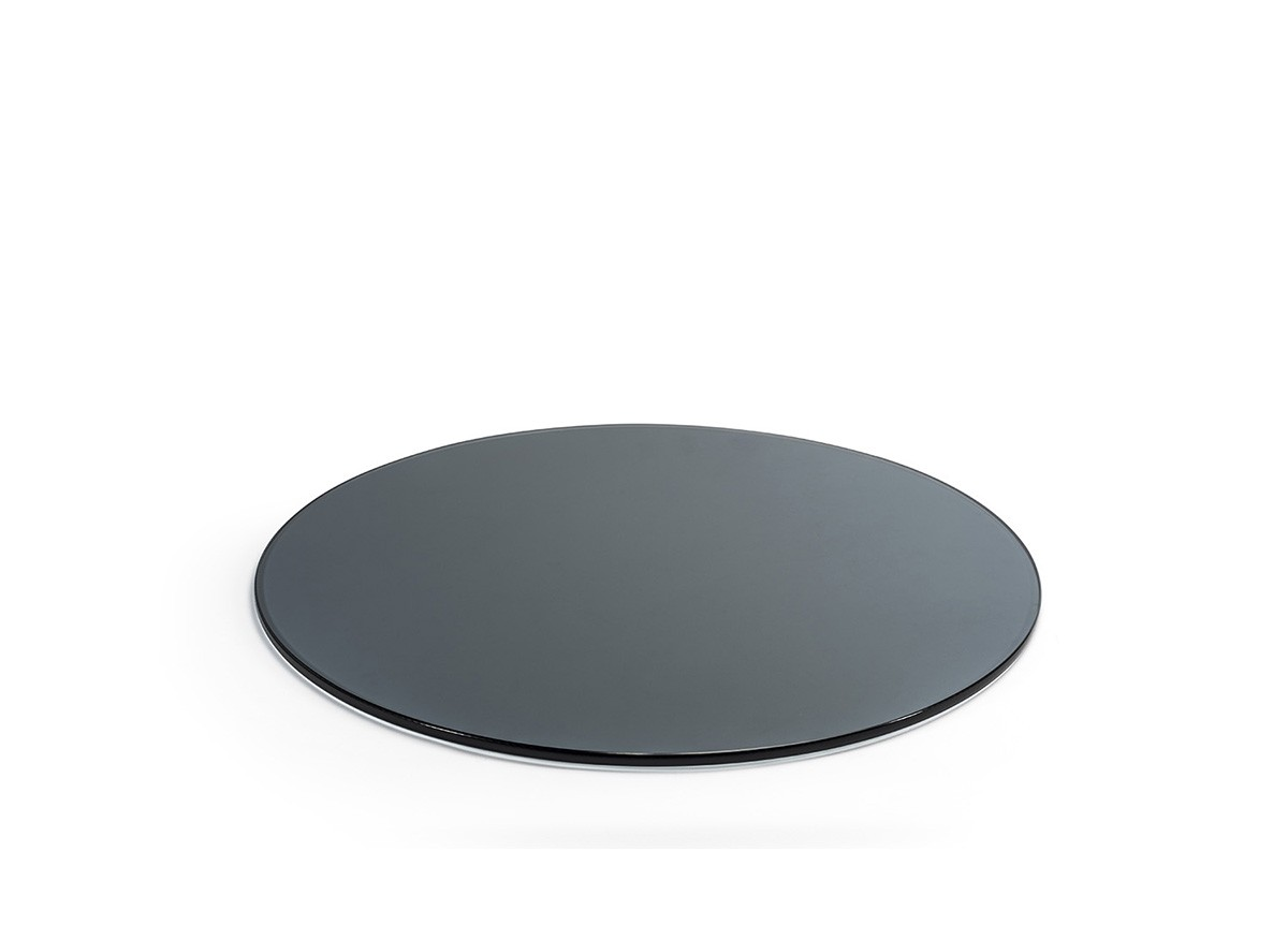 "19"" Round Tempered Glass Board - Smoke"