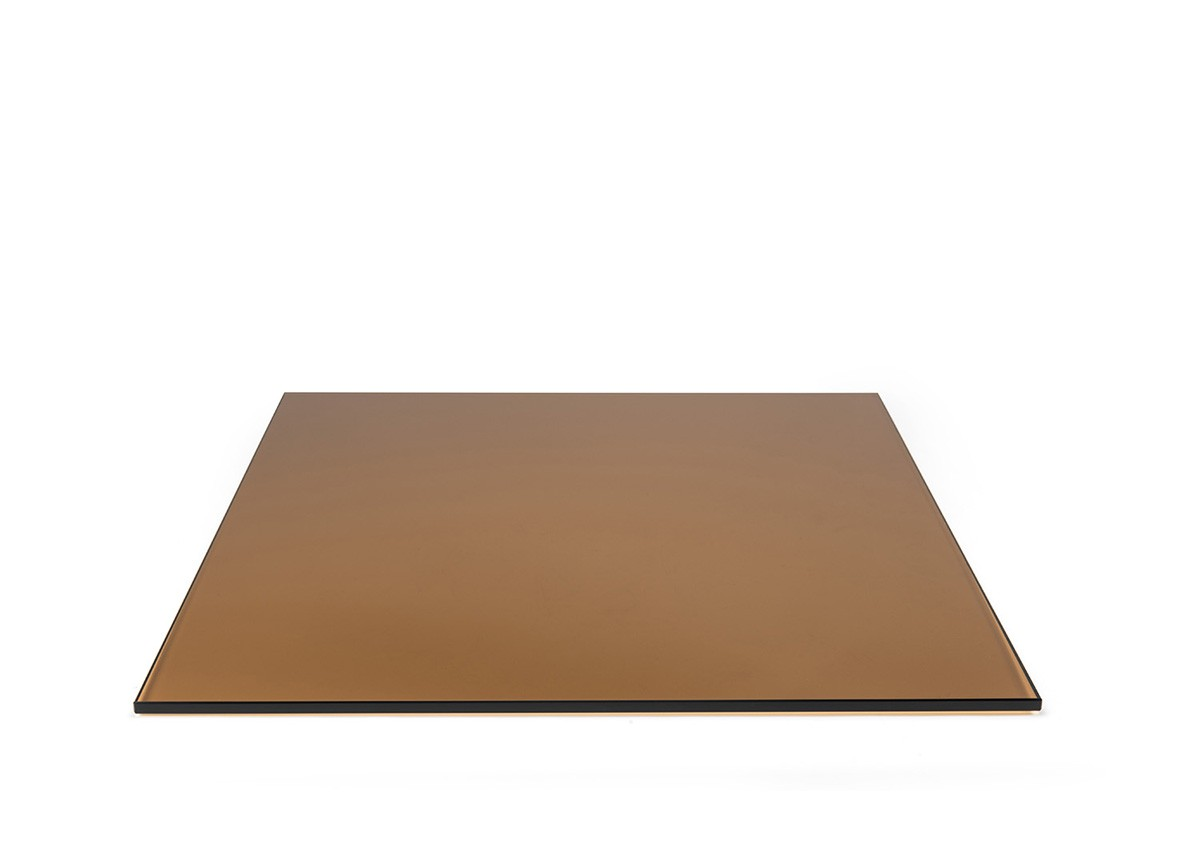"19"" Square Tempered Glass Board - Amber"