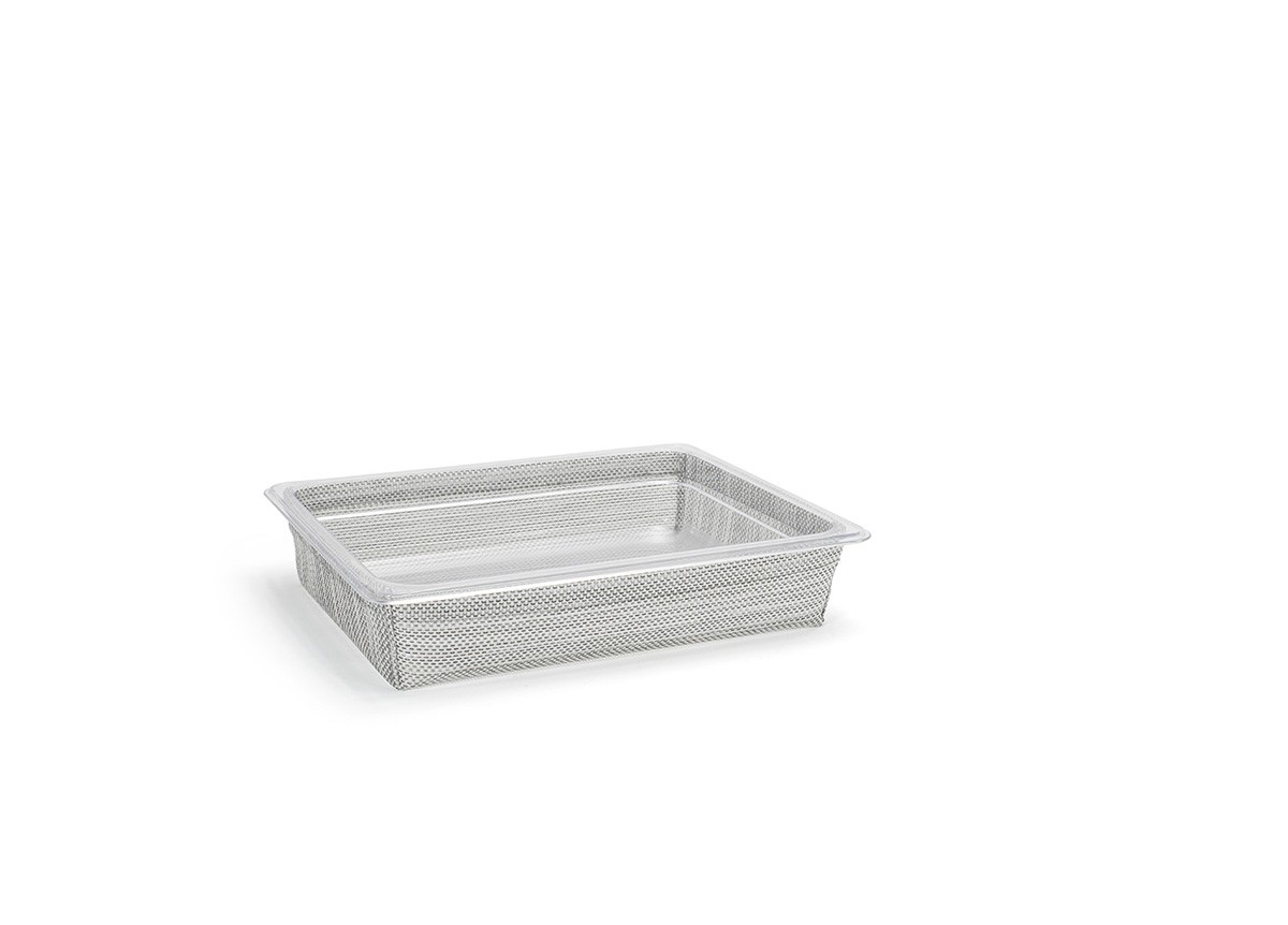 1/2 Size Metroweave®  Housing/Pan Set - Shallow - Mesh Grey