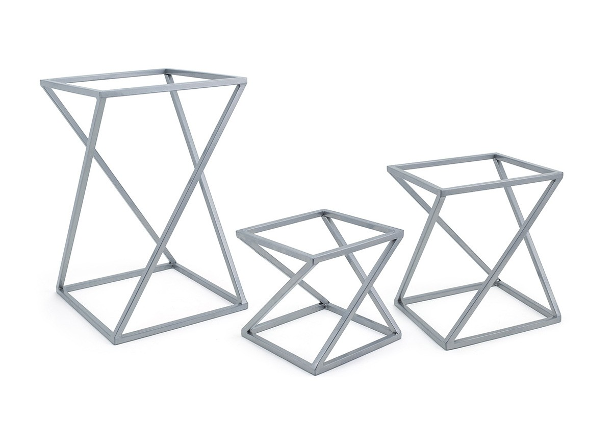 Twist Risers - Set of 3 - Silver