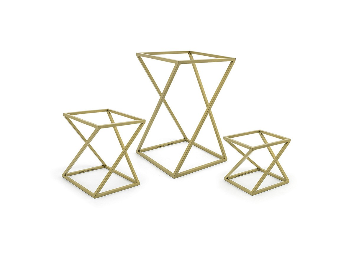 Twist Risers - Set of 3 - Matte Brass