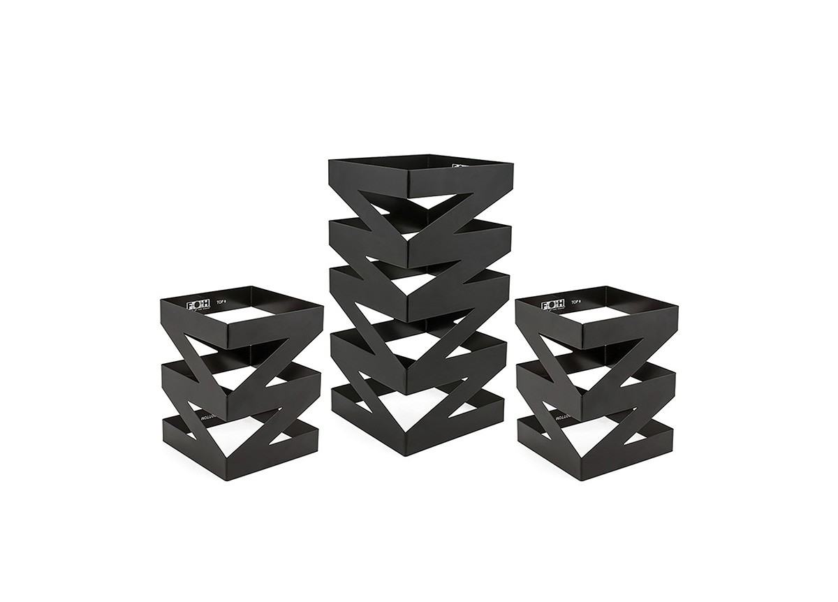 Zig Zag Risers - Set of 3 - Matte Black