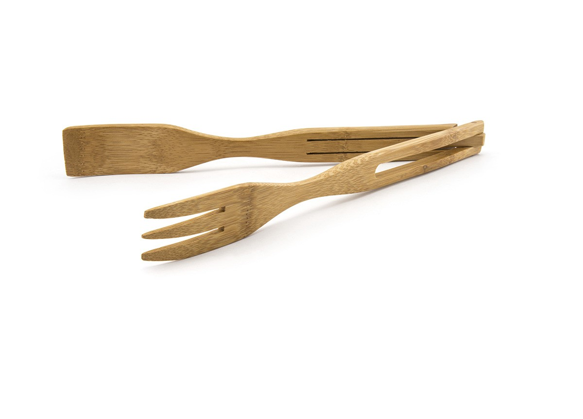 "12"" Bamboo Tongs"