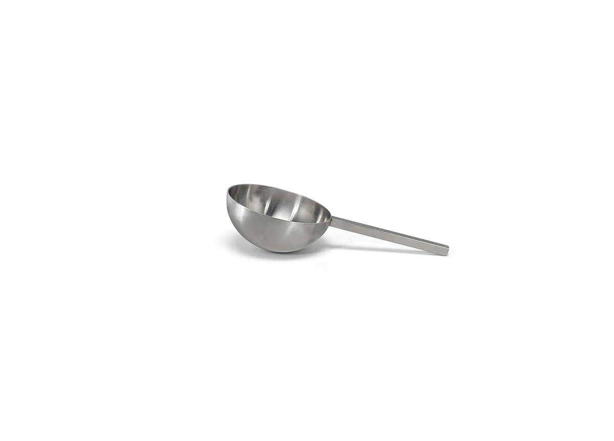 "6"" Brushed Stainless Scoop - Silver"