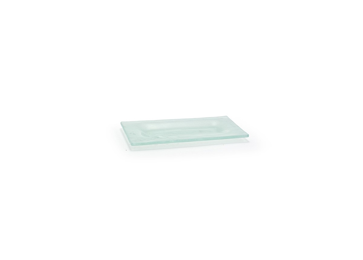 "8"" x 4"" Rectangle Arctic Plate - Frosted"