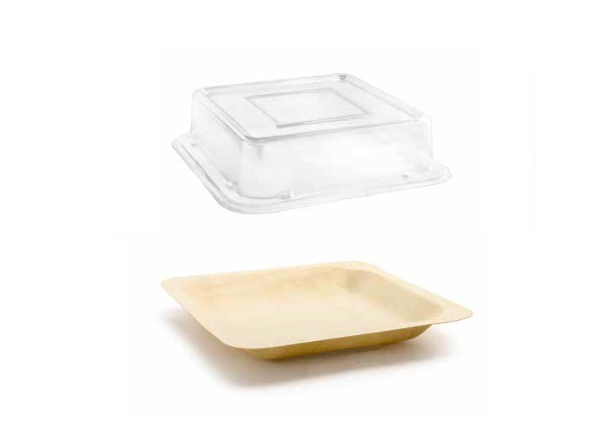 """5.5"""" Square Servewise® Plate and Cover"""