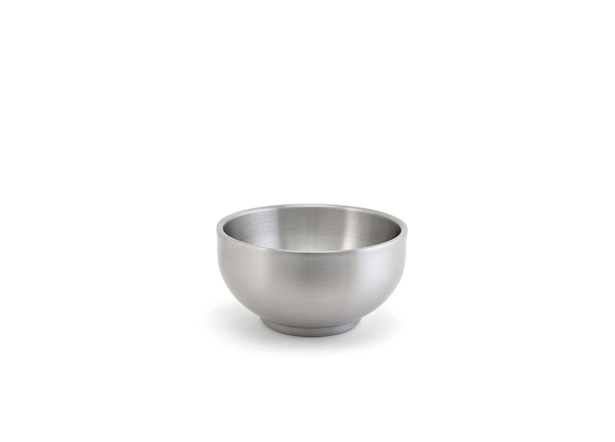 6oz Round Brushed Stainless Harmony Bowl - Silver