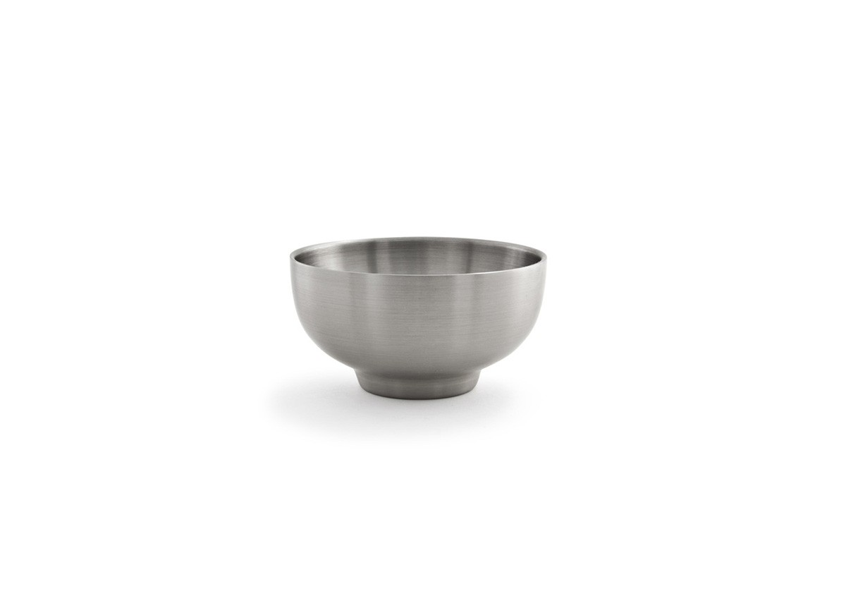 10oz Round Brushed Stainless Harmony Bowl - Silver