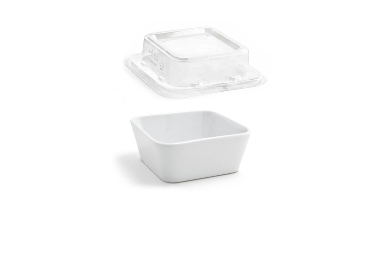 """4.5"""" Square Mod®  Bowl and cover"""