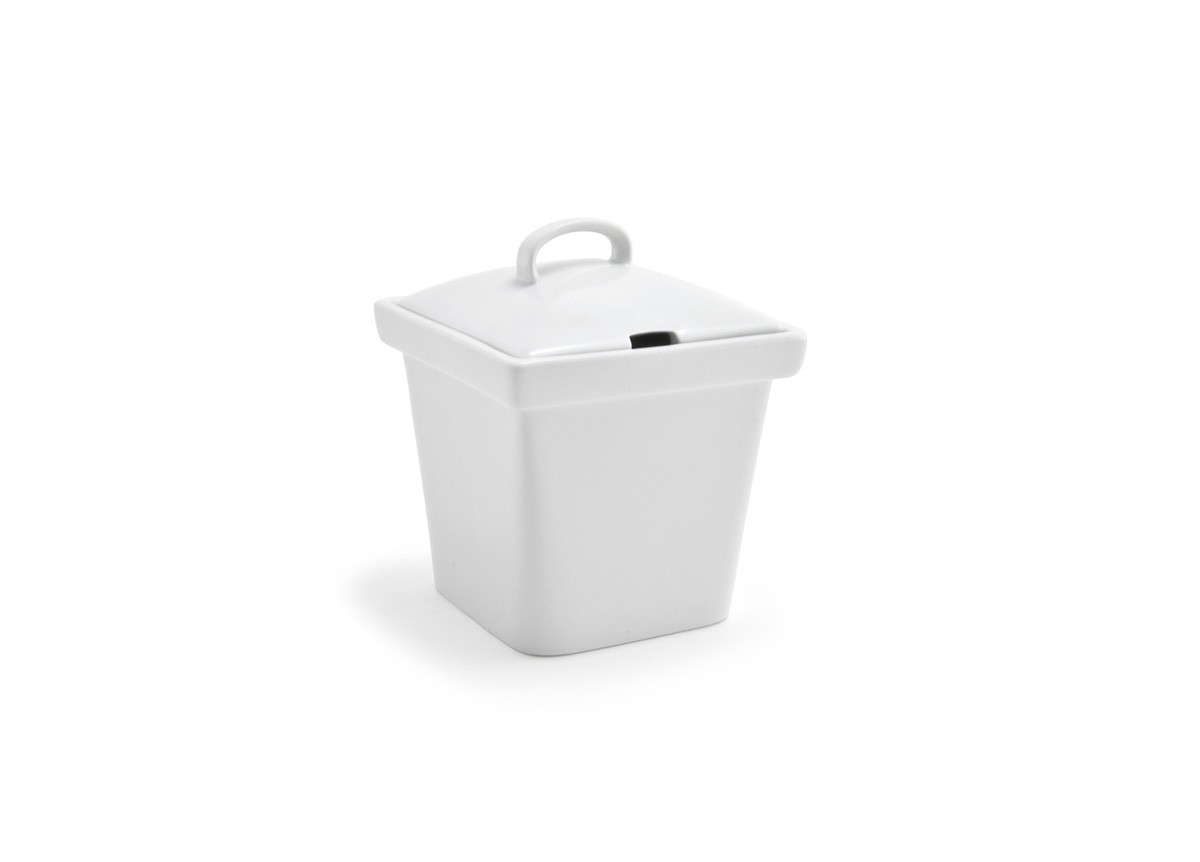 "4"" Square Mod Pot with Notched Lid - 15oz"