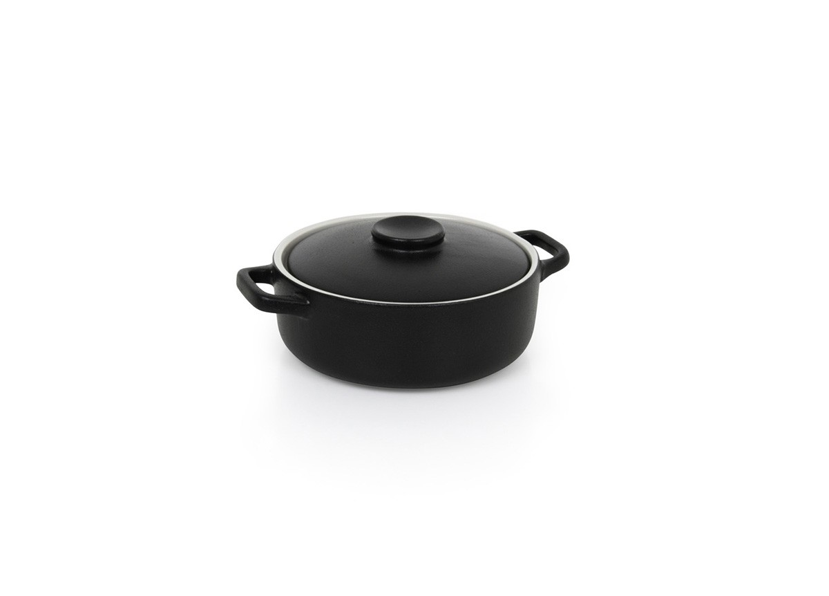 21oz Round Kiln®  Ovenware Dish with Lid - Black