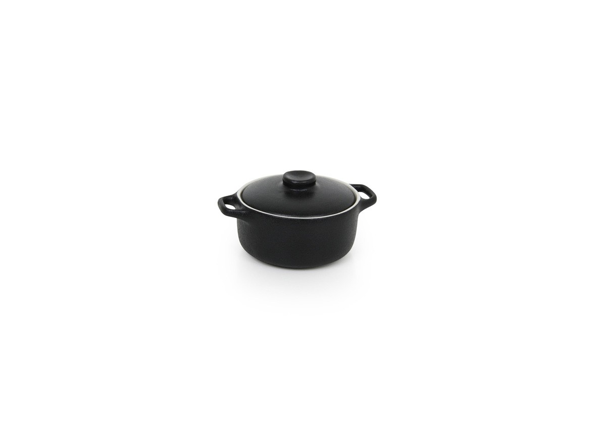 7oz Round Kiln®  Ovenware Dish with Lid - Black