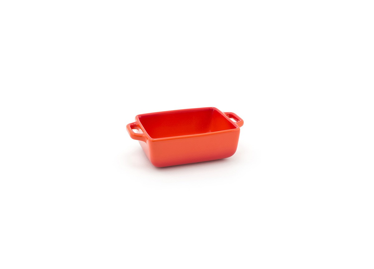 16oz Rectangle Kiln Ovenware Dish - Blood Orange