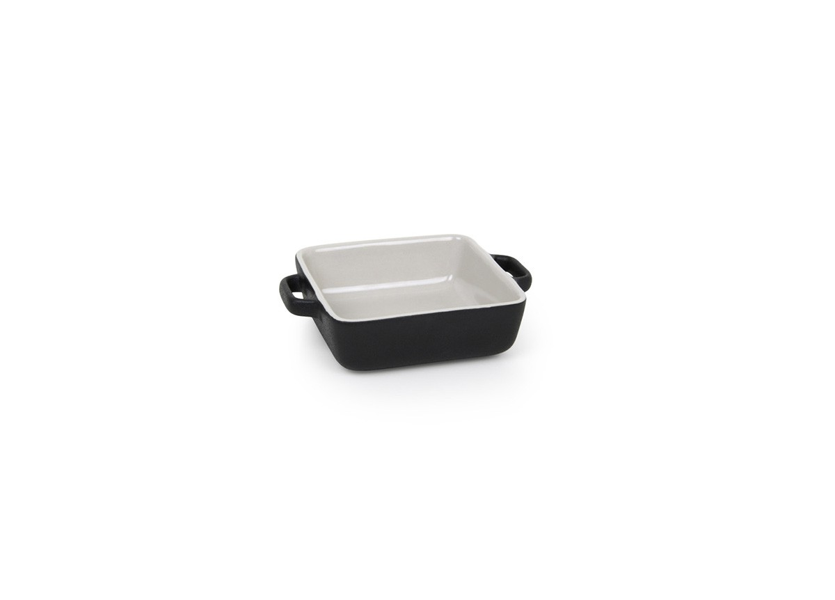 14oz Square Kiln Ovenware Dish - Black
