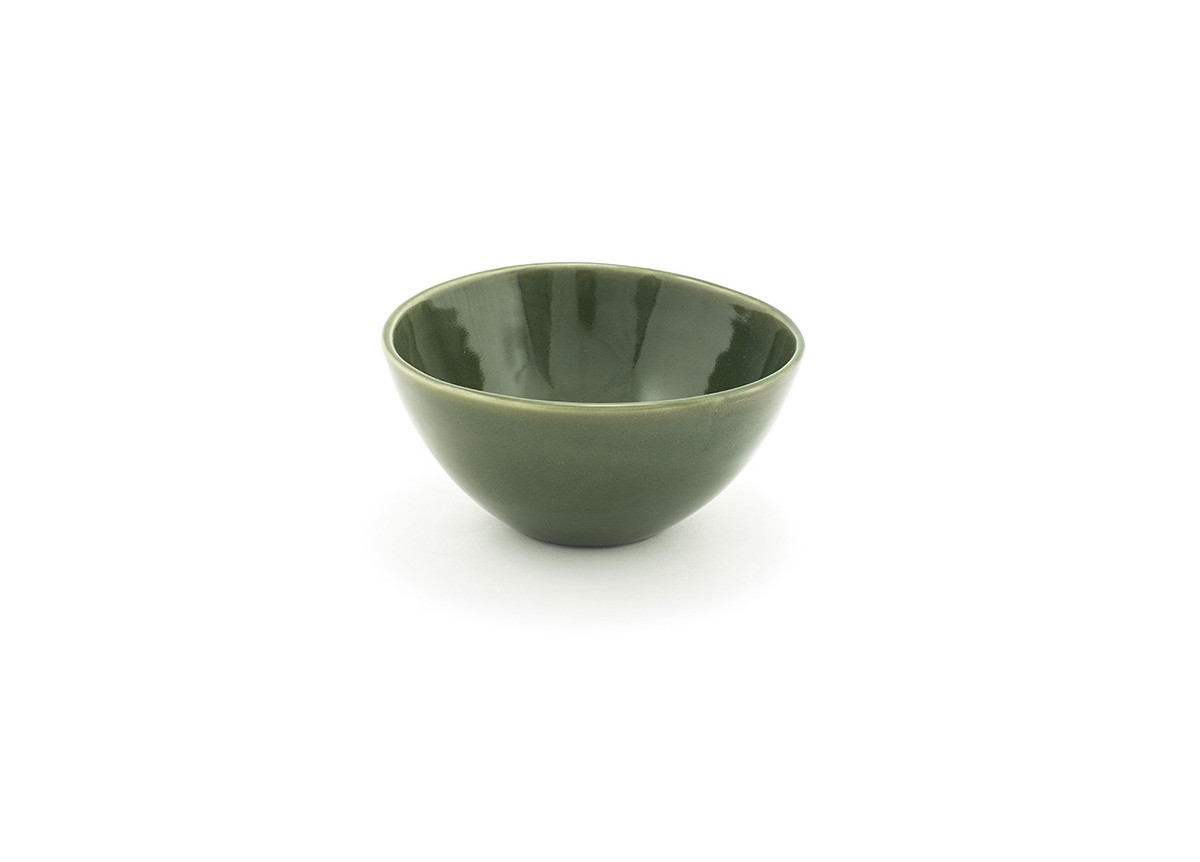42oz Oval Tall Kiln Bowl - Leek