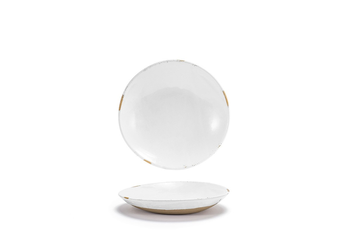 "9.25"" Artefact Low Bowl - White"