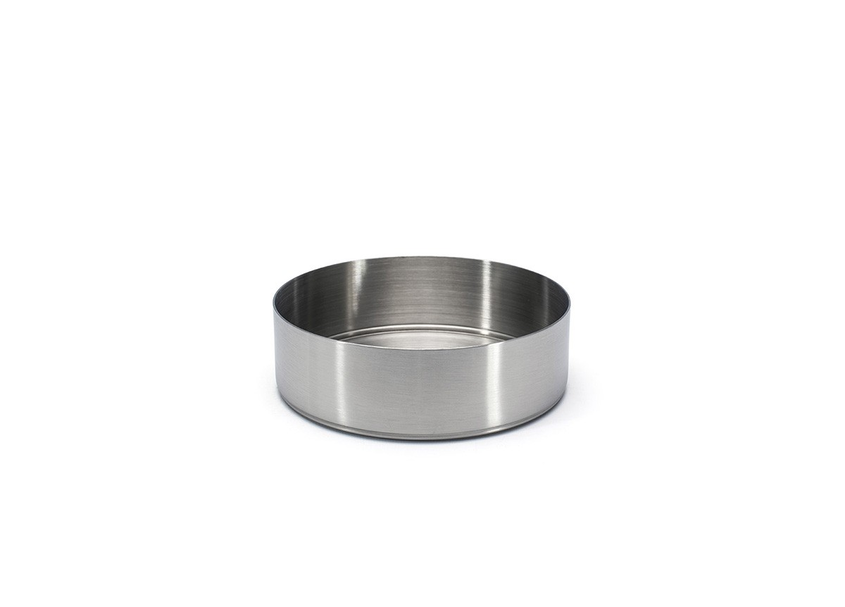 "5.5"" Round Brushed Stainless Soho Bowl - 22oz - Silver"