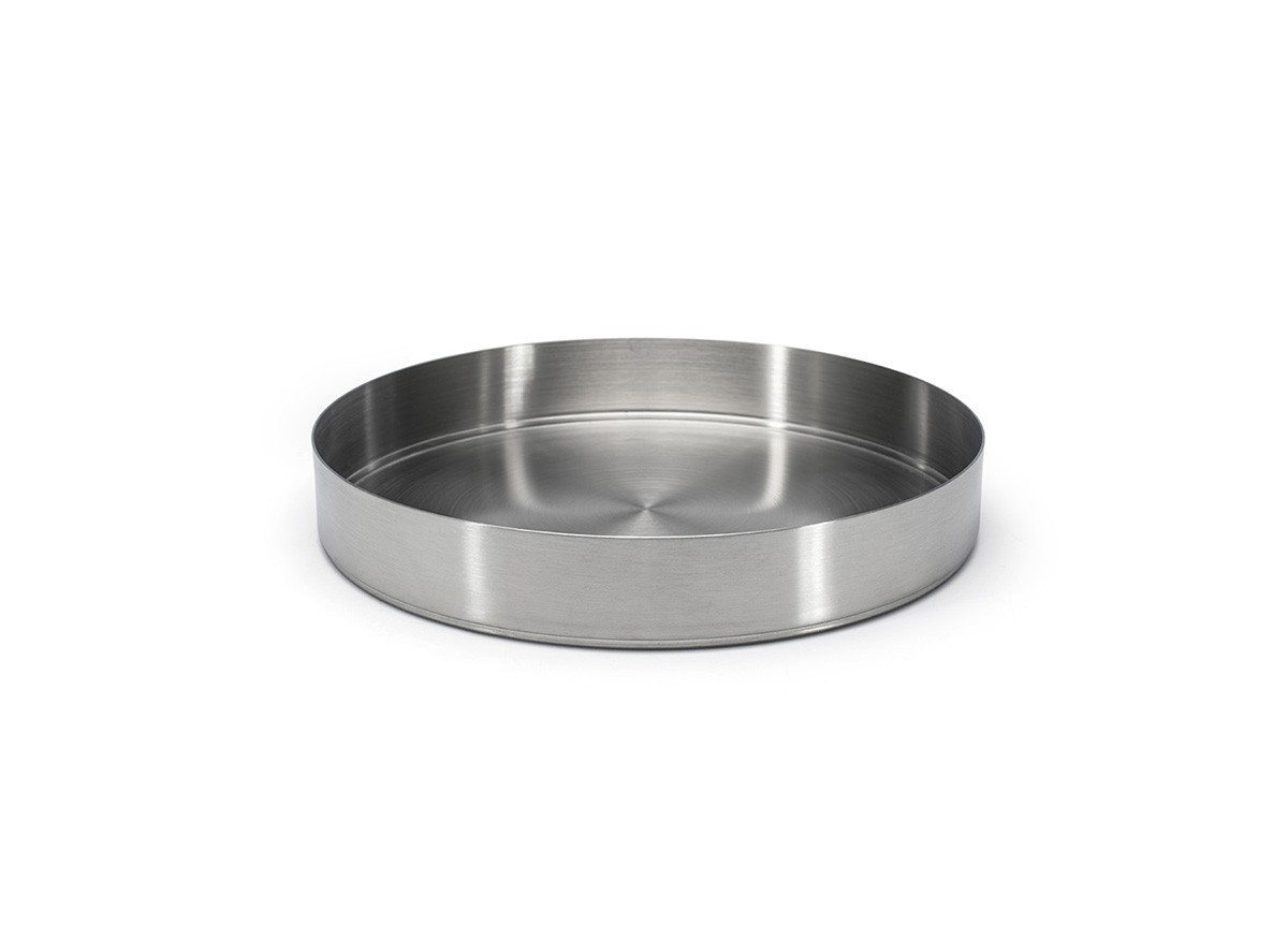 "9"" Round Brushed Stainless Soho Bowl - 48oz - Silver"