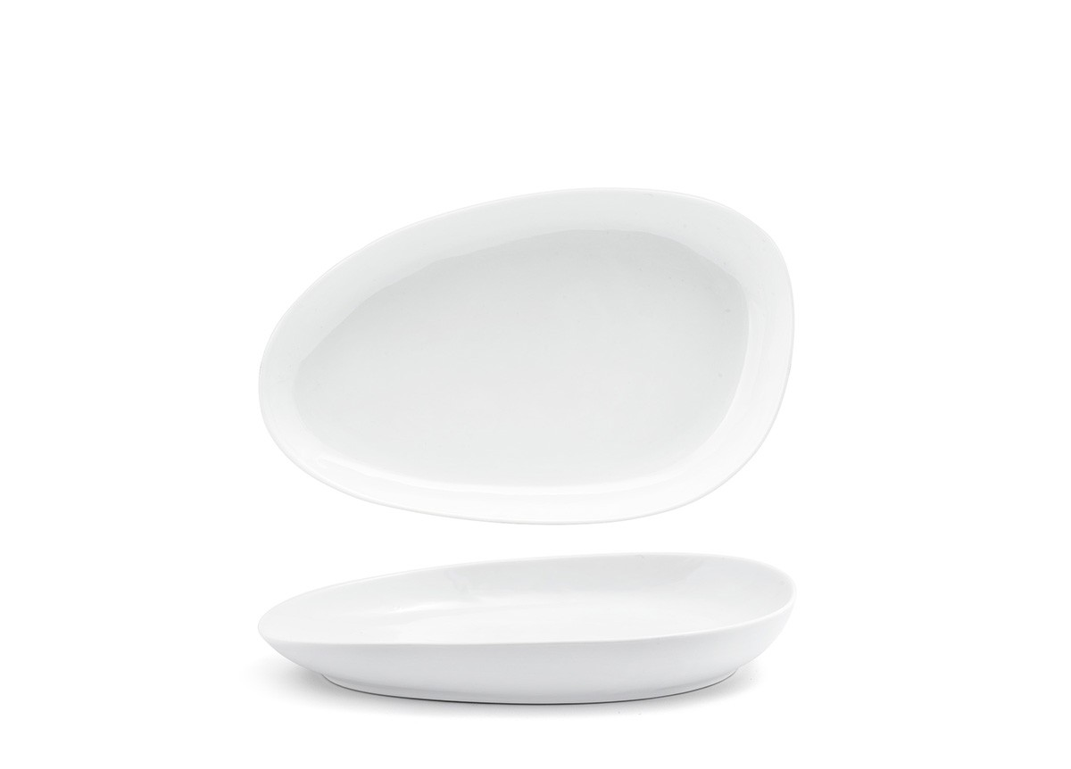 "11"" Oval Kiln Plate - White"