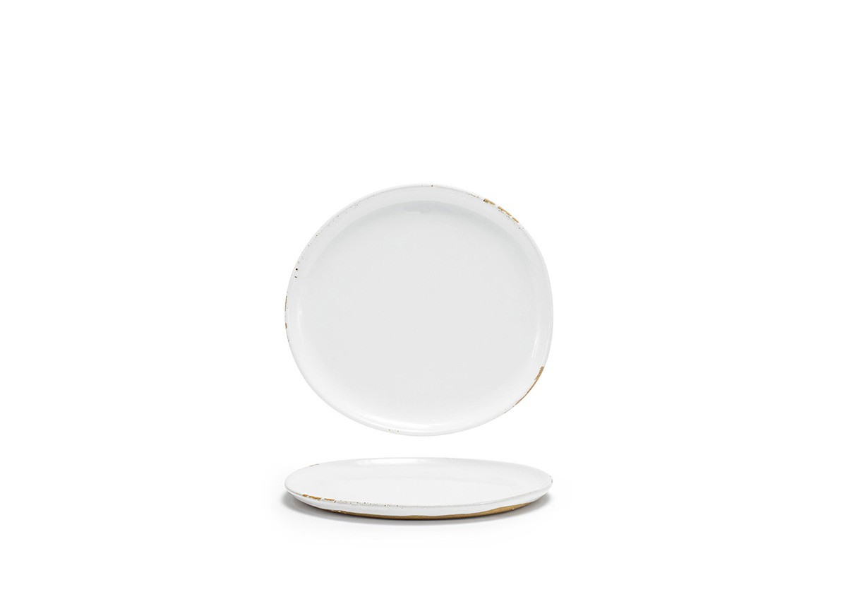 "9"" Round Artefact Plate - White"