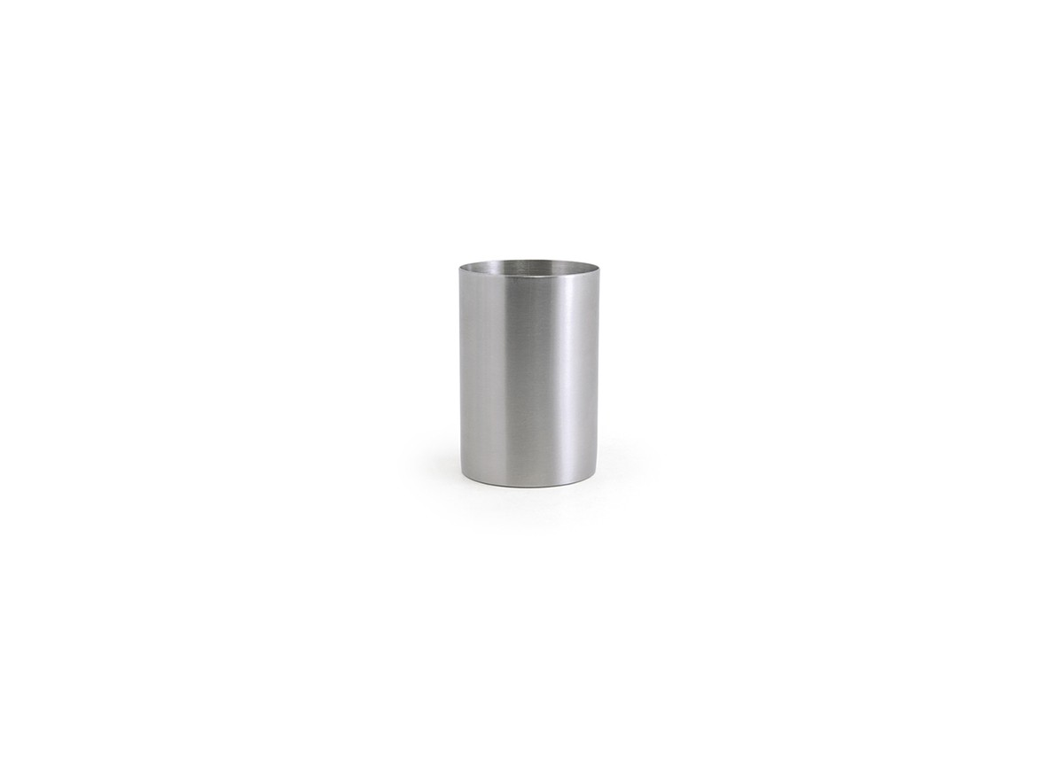 10oz Brushed Stainless Holder - Silver