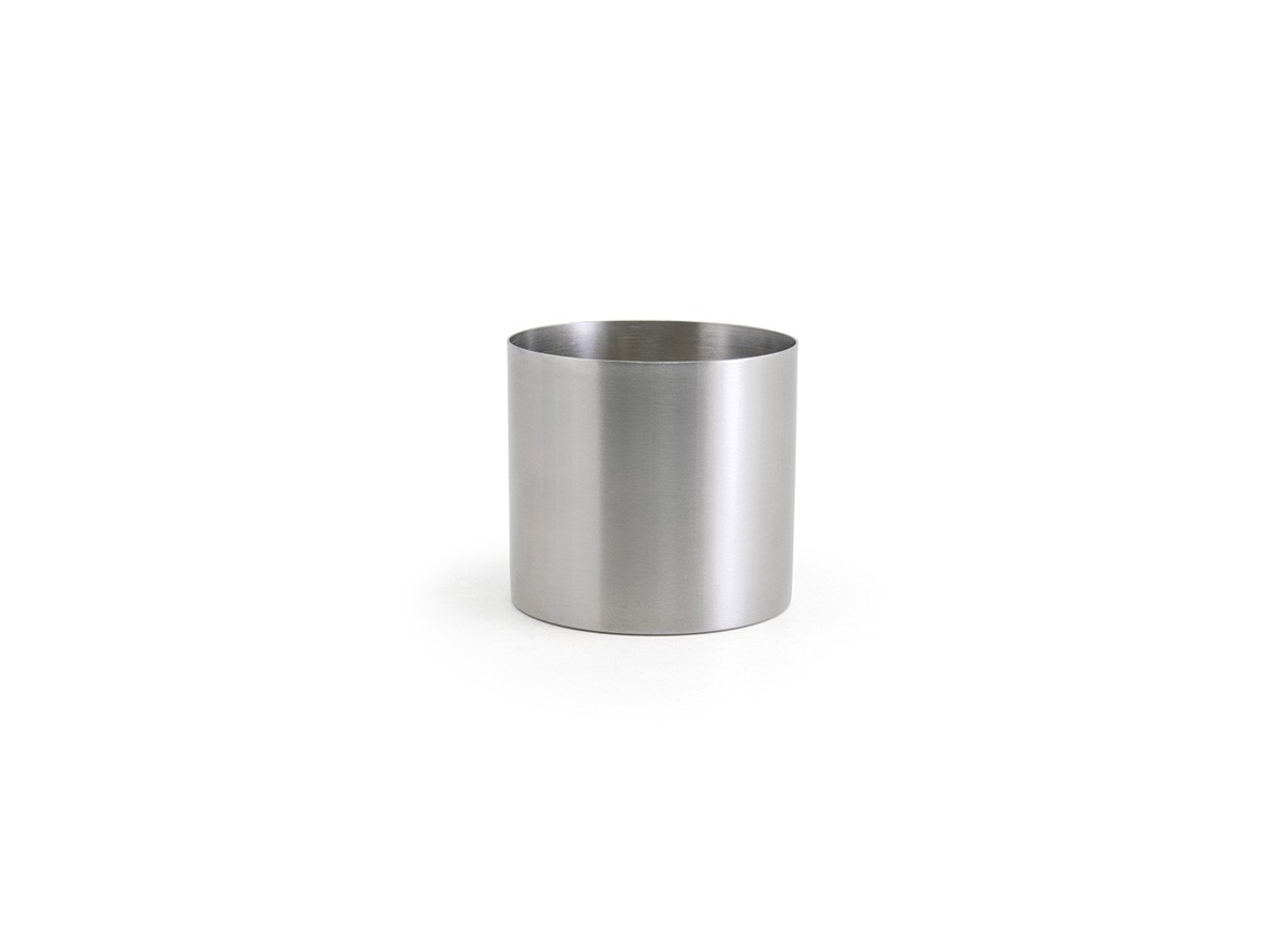 14oz Round Stainless Holder - Silver