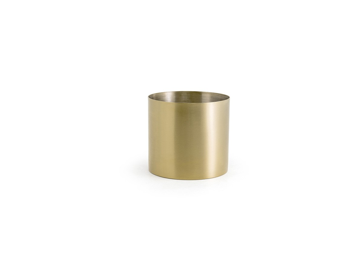 14oz Round Stainless Holder - Matte Brass