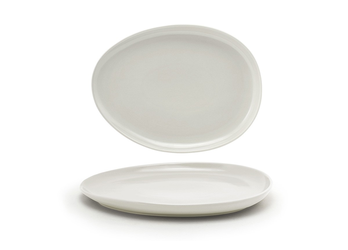 "13"" Oval Tides®  Low Plate - Scallop"