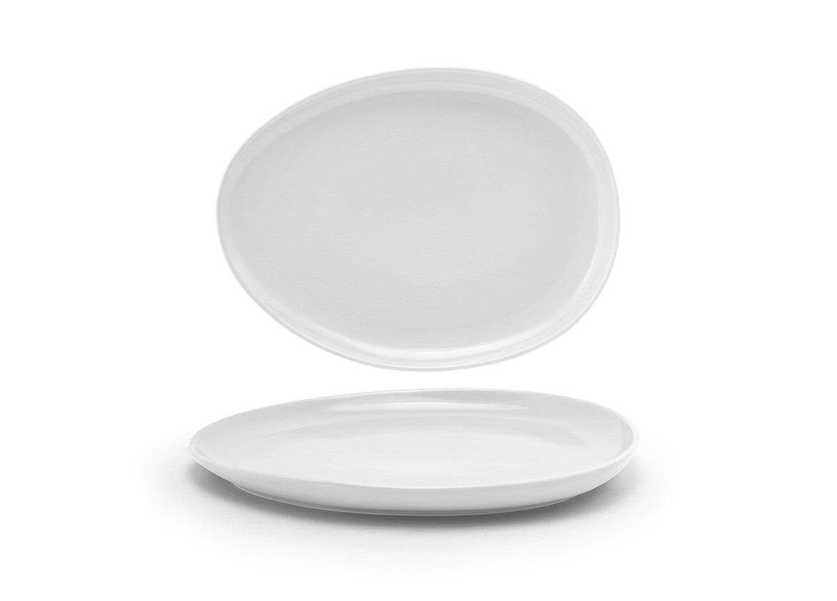 "13"" Oval Tides®  Low Plate - White"