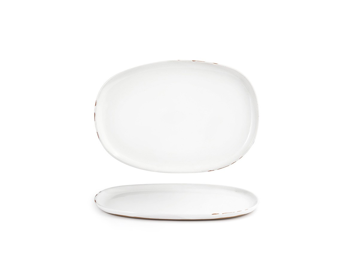 """13"""" Oval Artefact Plate - White"""