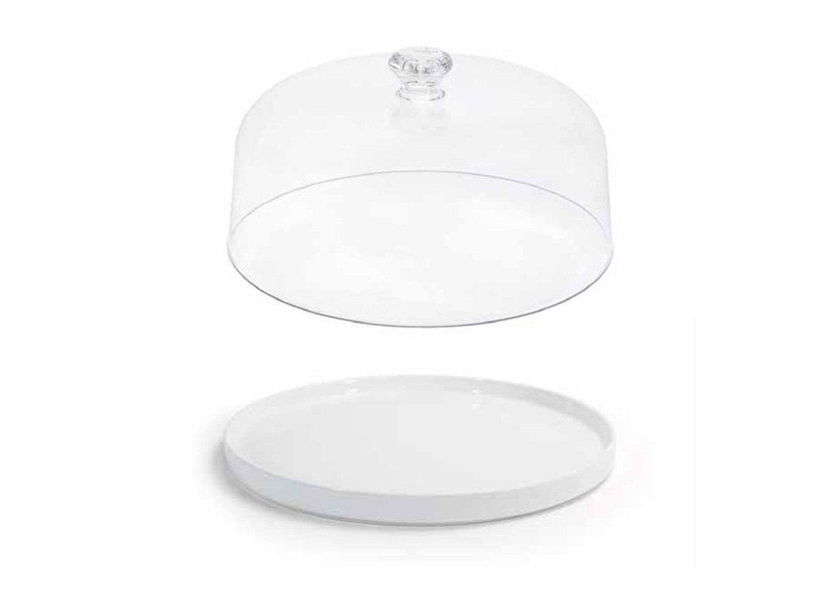 "11.5"" Round Soho Plate and cover"