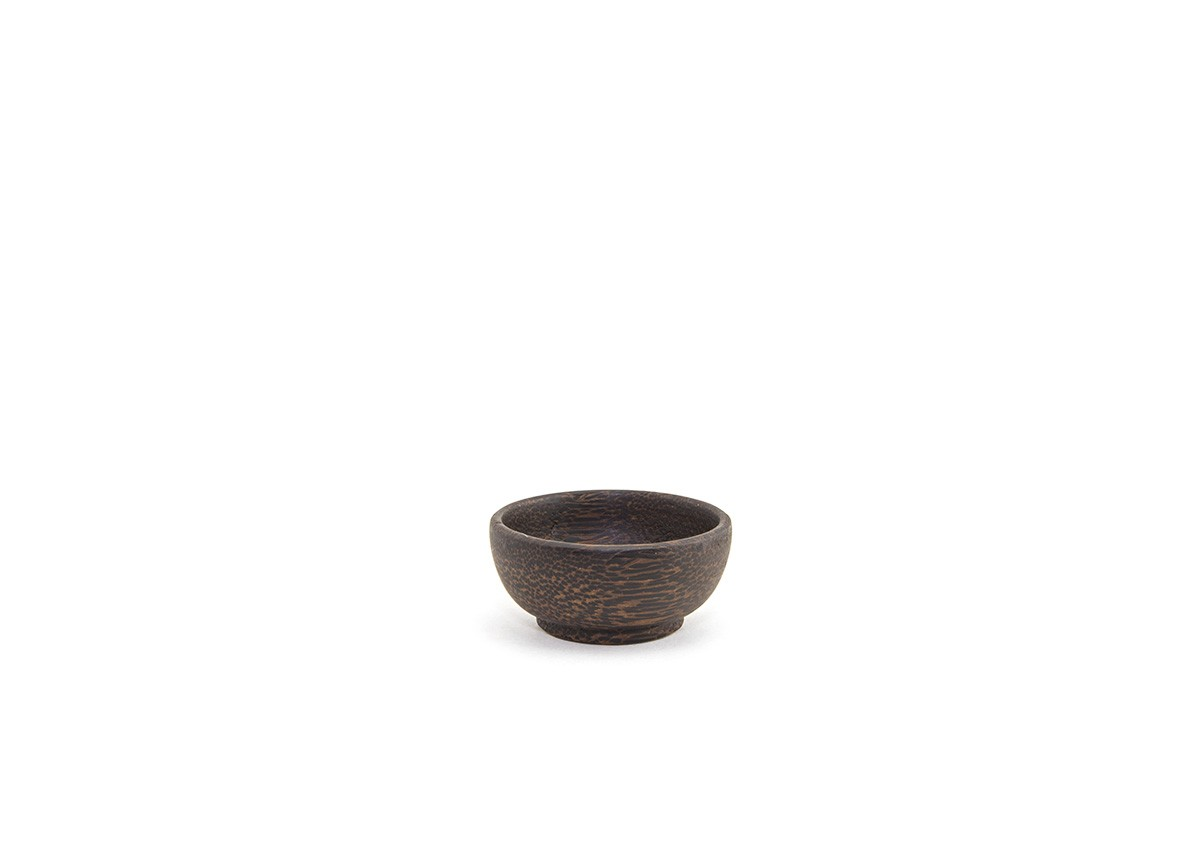 2.5oz Round Palm Wood Dish
