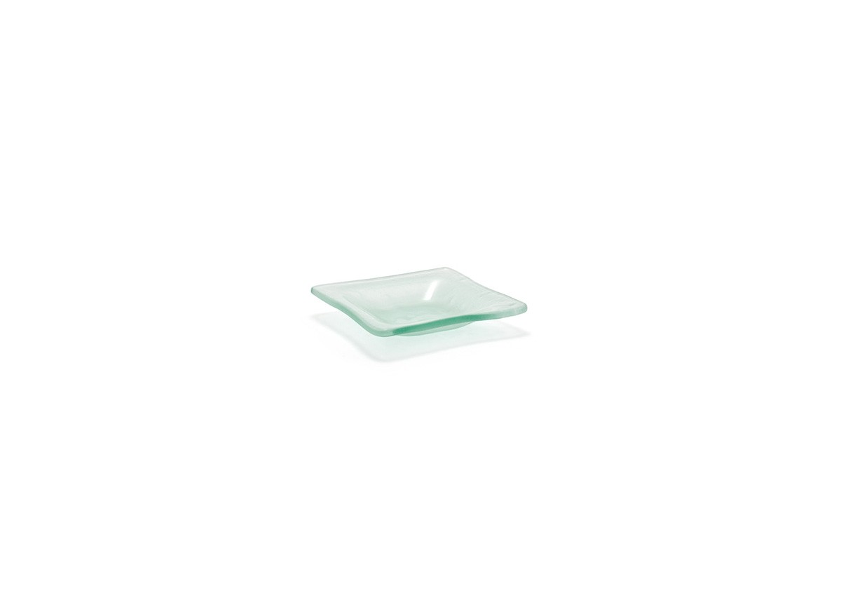 """3.5"""" Square Arctic Dish - Frosted"""