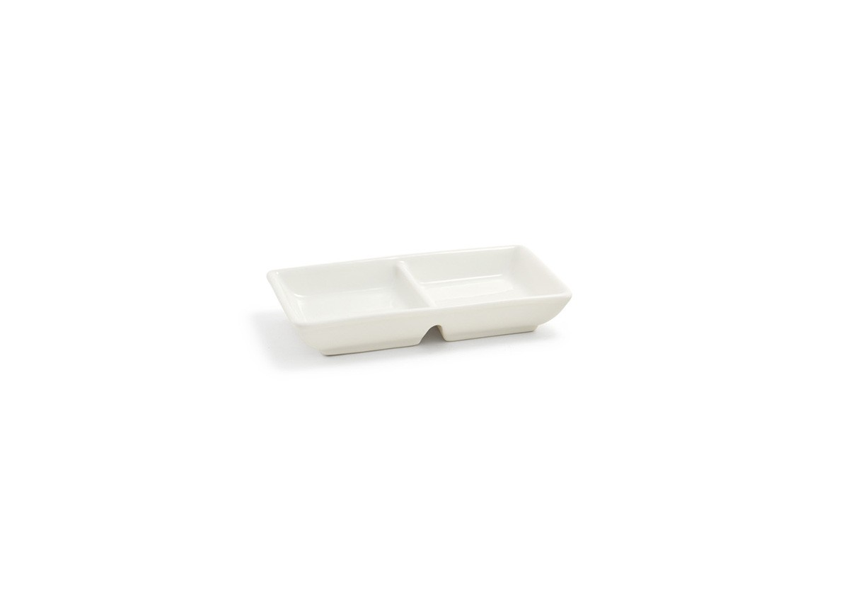 "4.75"" x 2.75"" Catalyst Two Compartment Dish - 2oz"