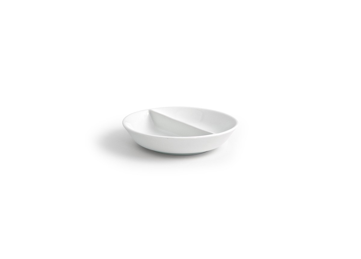"4.75"" Round Monaco Divided Dish - 4oz"