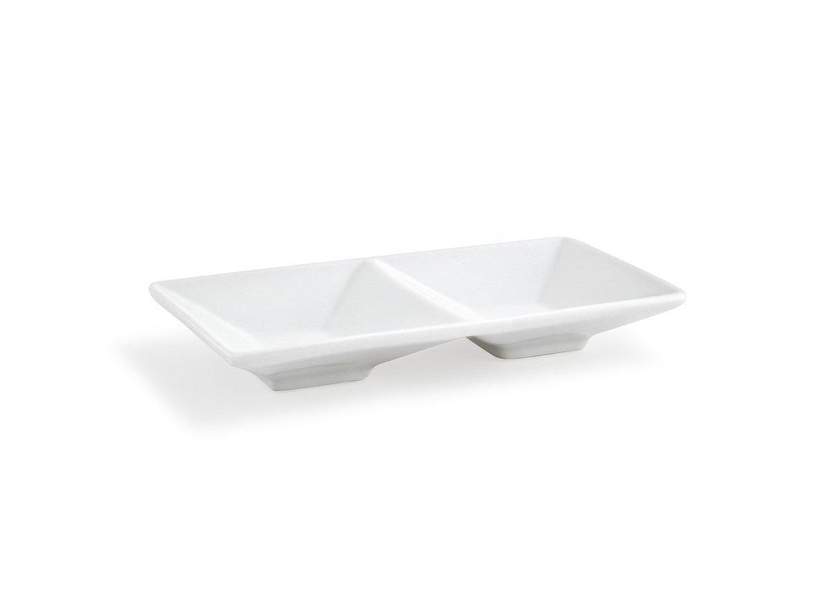 "9"" Rectangle Kyoto™  Divided Dish - 6oz"