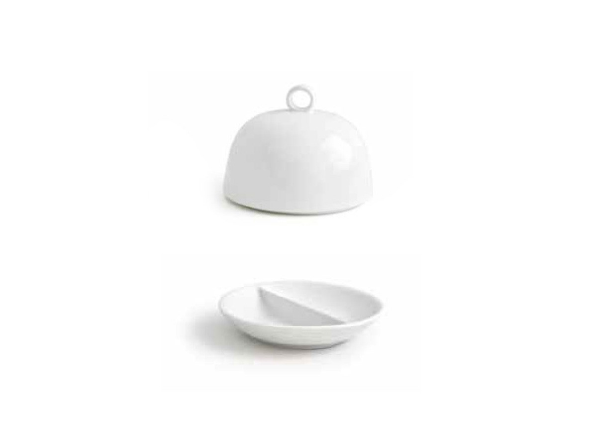 """3.75"""" Round Monaco Divided Dish and Cover"""