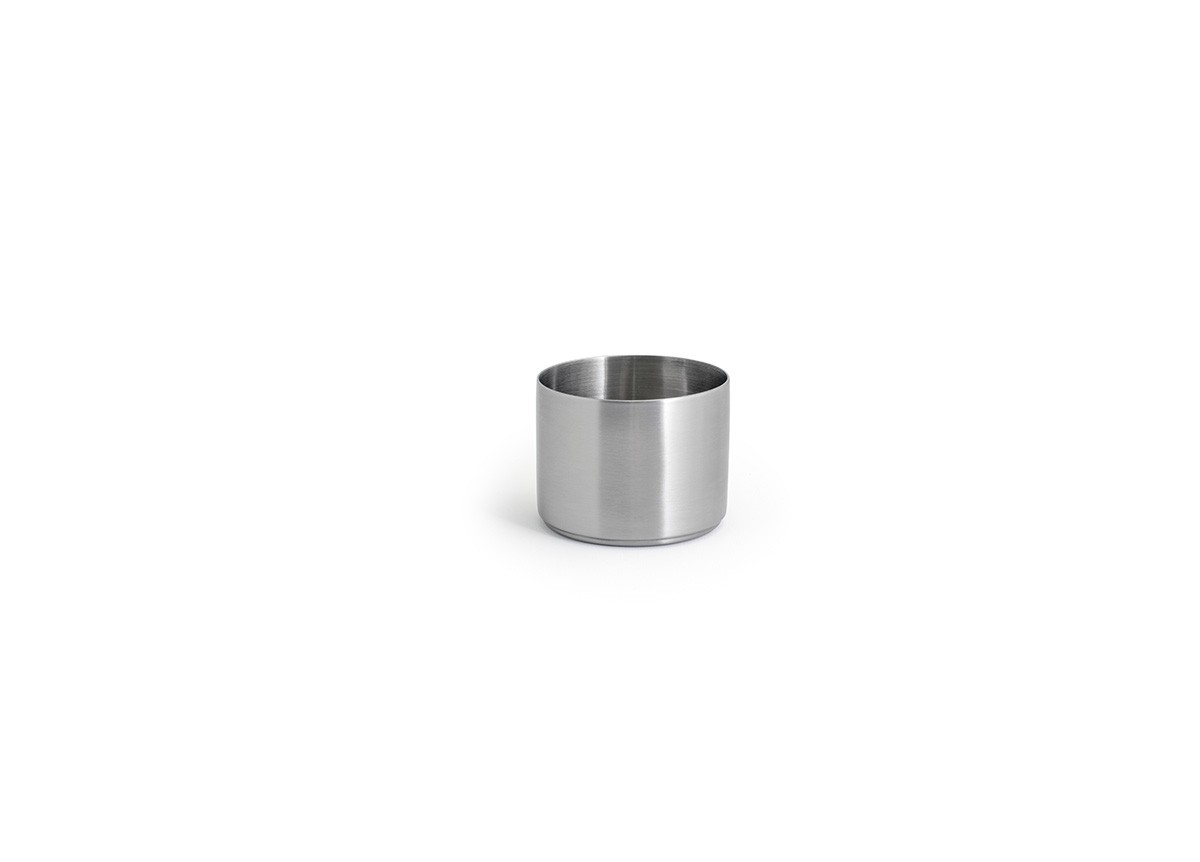 9oz Round Brushed Stainless Soho Ramekin – Silver
