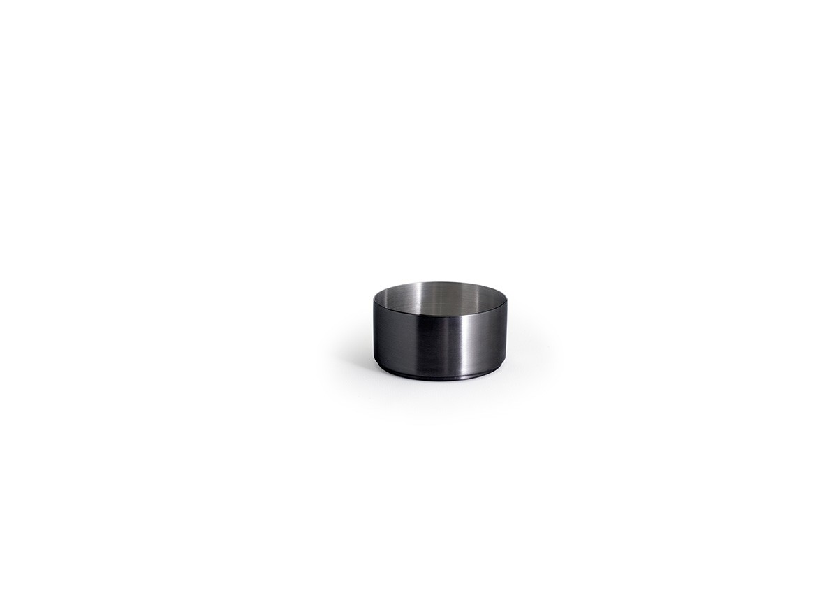 6oz Round Brushed Stainless Soho Ramekin – Matte Black