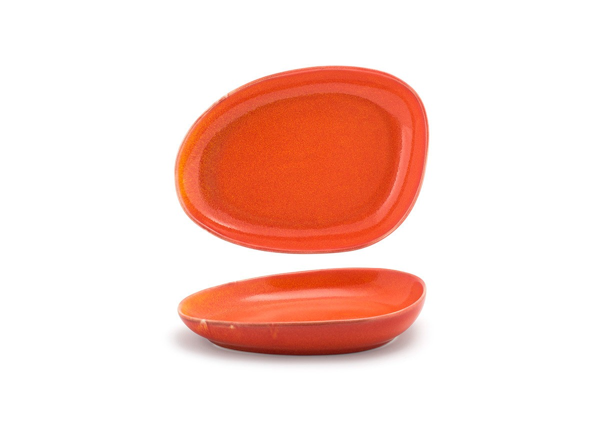 "8"" Oval Kiln®  Plate - Blood Orange"